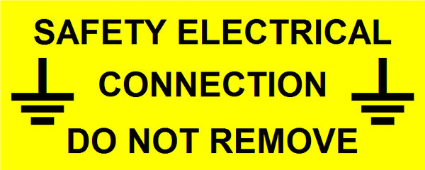 Safety Electrical Connection Label (WAR06)