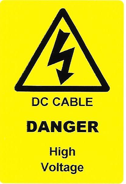 DC CABLE Label (PV07)
