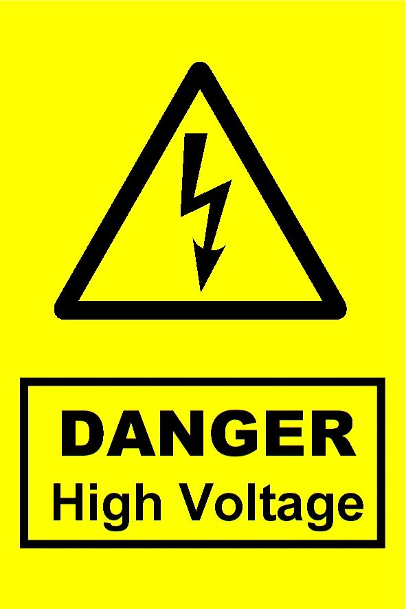 High Voltage Label (HS10)