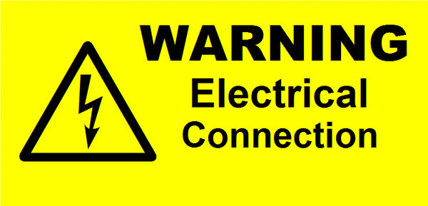 Electrical Connection Label (WAR17)