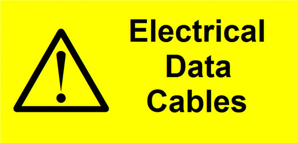 Electrical Data Cables Label (WAR19)
