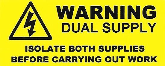 Dual Supply Labels (WAR21)
