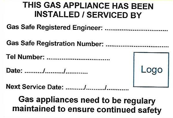 Gas Serviced Labels with One Logo (GAS02)