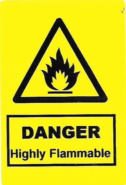 Danger Highly Flammable Label (HS01)