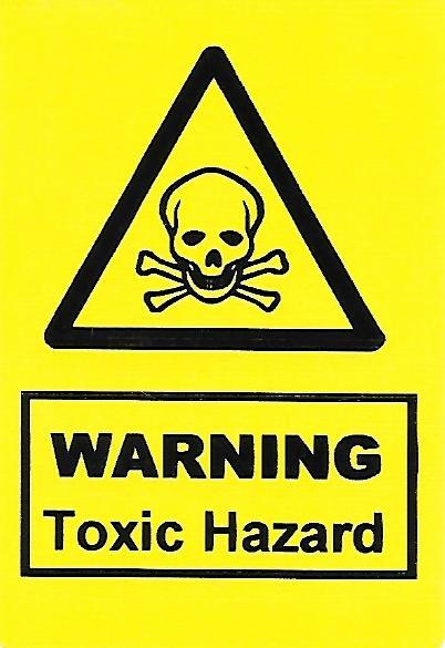 Warning Toxic Hazard Label (HS04)