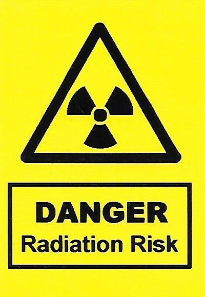 Danger Radiation Risk Label (HS06)