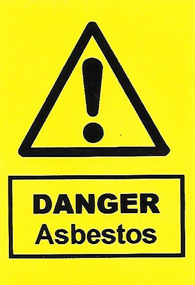 Danger Asbestos Label (HS08)