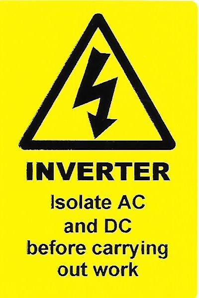 INVERTER Label (PV06)